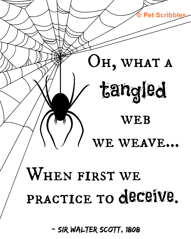 What A Tangled Web We Weave Halloween Printable