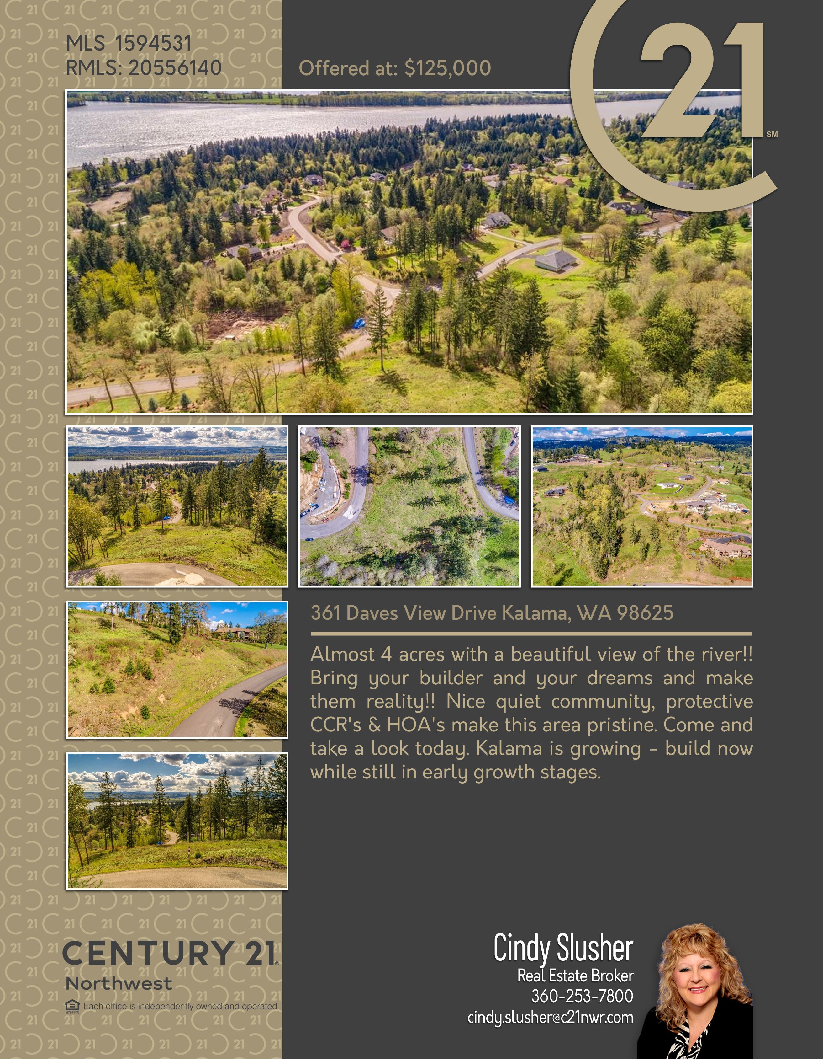 Newactive Almost 4 Acres With A Beautiful View Of The River Bring Your Builder And Your Dreams And Make Them Reality Nice Qui In 2020 Beautiful Views Views Kalama