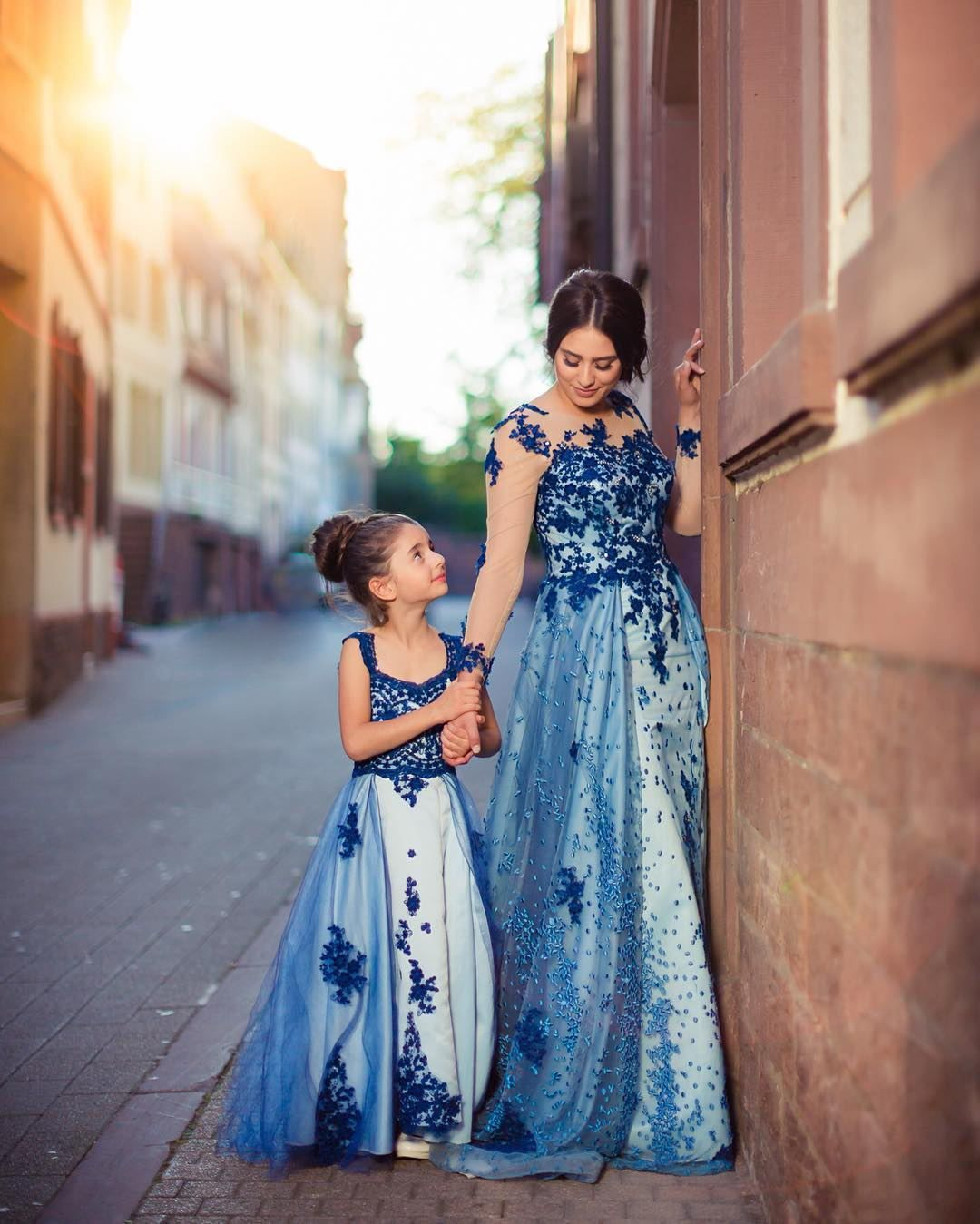 efbdd1b432332 Royal Blue Lace Flower Girl Dress Kids Pageant Party Wedding ...