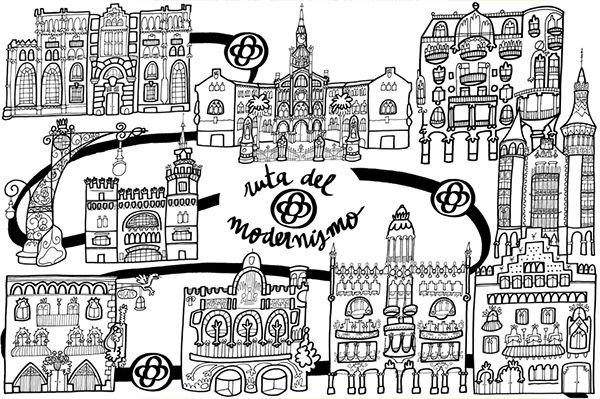 dibujo paris para colorear - Buscar con Google | barcelona | Pinterest