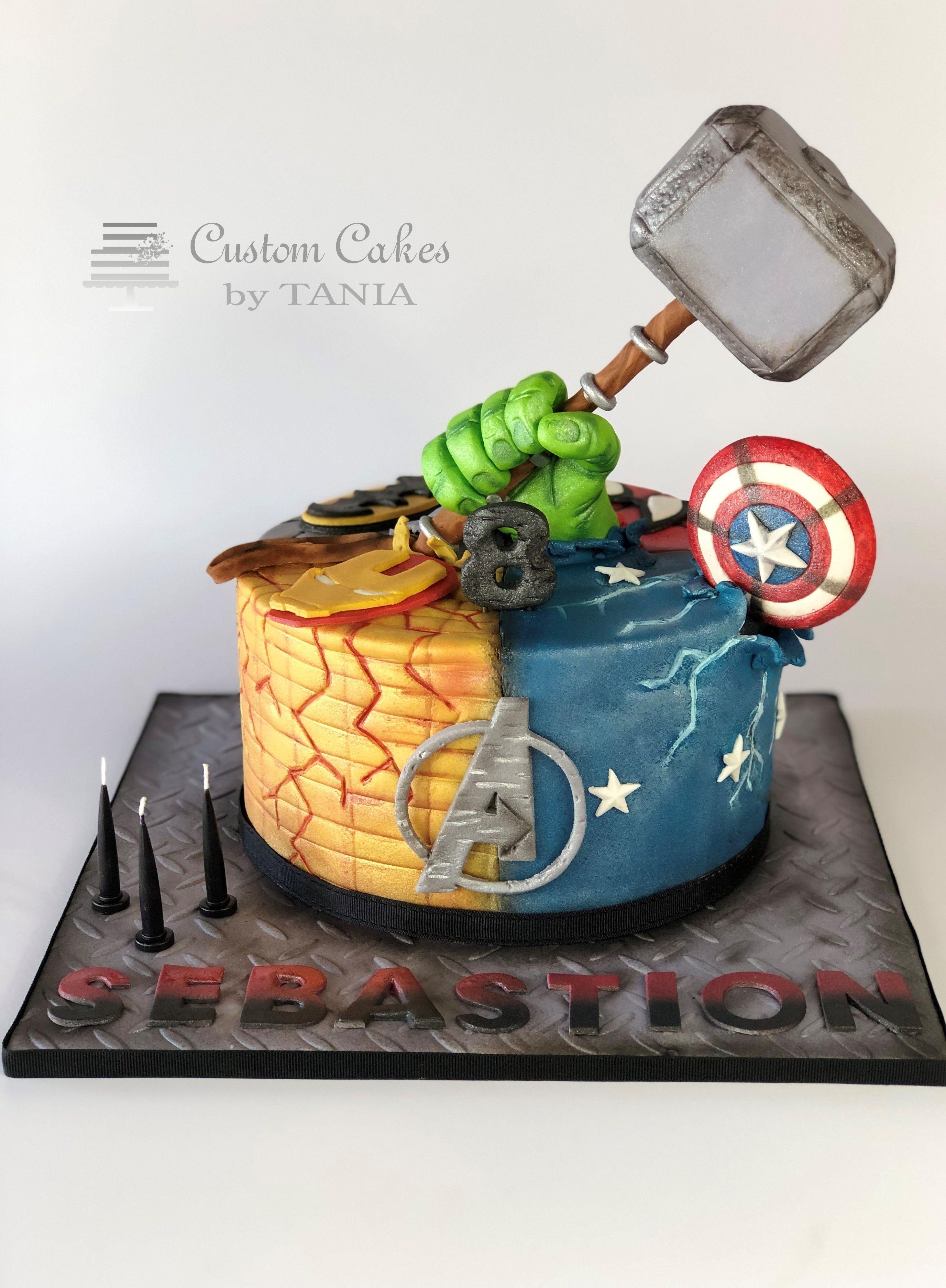 Miraculous Superhero Cake Avengers Cake Thor Cake Thor Captain America Personalised Birthday Cards Paralily Jamesorg