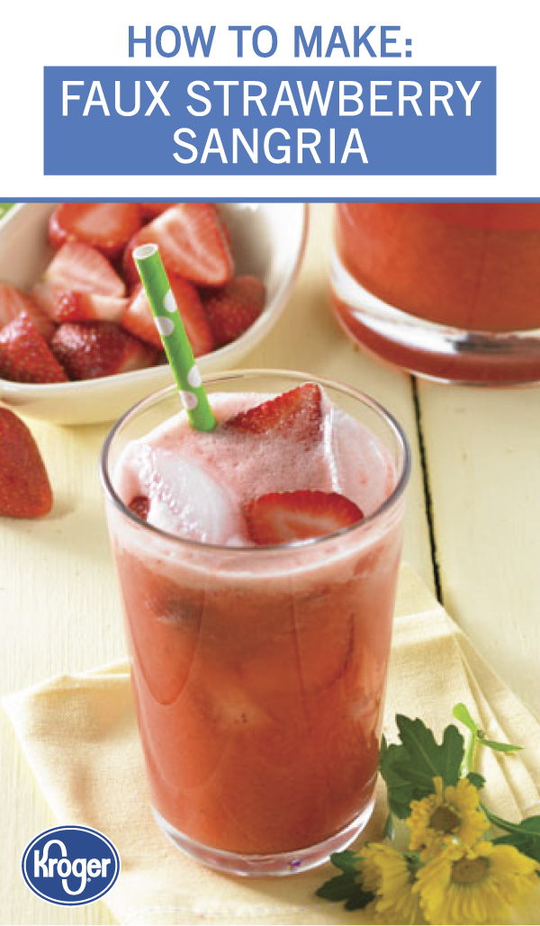 Faux Strawberry Sangria Recipe Refreshing cocktails