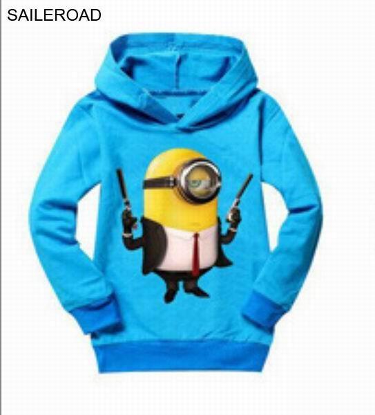 6dd69ee23 Despicable Me 2 Minion Spring Autumn Children Kids Boy Sweatshirt ...