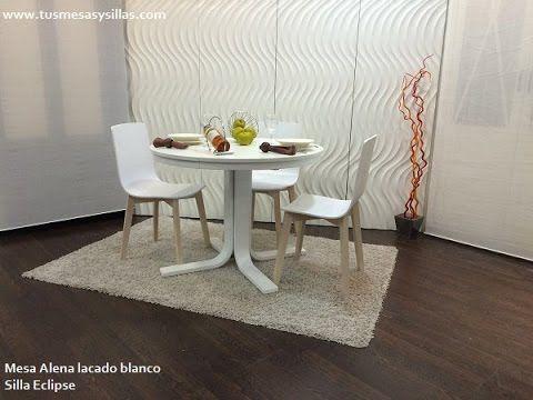 Mesa redonda extensible Alena de estilo nordico   mesas redondas de ...