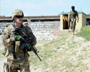 Shane Kigin '16 during a military operation