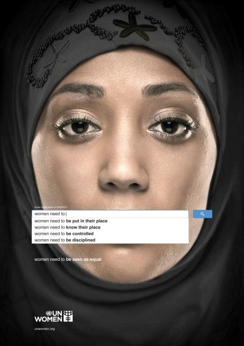 UN - Women need to... (het standaard zoekresultaat in Google)
