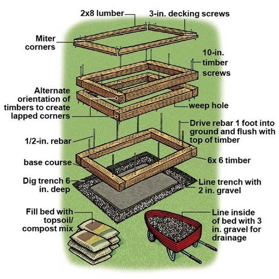 Diy Raised Garden Beds How To Build     Raised Gar