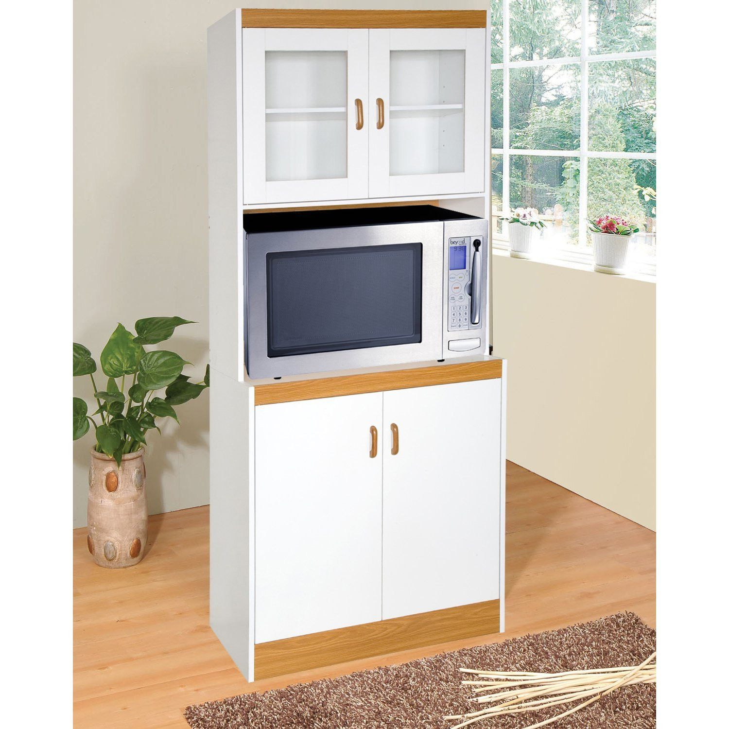 50 Microwave Cabinet With Doors Kitchen Shelf Display Ideas Check