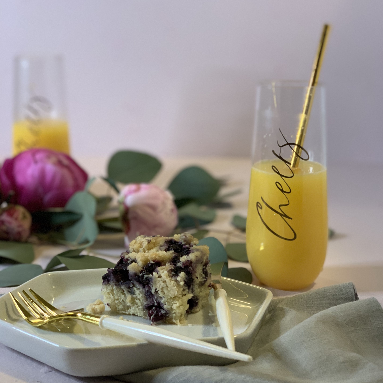 Tritan Champagne Flutes Classic Blue and Gold Happy Hour Set Set of Ten 7 Plates Cocktail Napkins