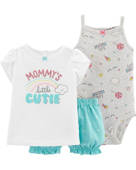 33baa3d76 3-Piece Rainbow Little Short Set. 3-Piece Rainbow Little Short Set Carters  Baby Girl, Carters Baby Clothes ...