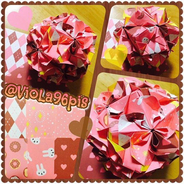 千変万化3 つがわみお Folded By Anna Origami Paper Paperfolding Art Handmade Papercruft Fold Japan Japanese 折り紙 おりがみ 折纸 くす玉 Origami Gifts Wrap