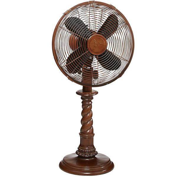 Art Fans Deco Breeze Raleigh Table Top Fan Decorative And Functional Oscillating Fan With A Whisper Quiet 30 Watt Moto Floor Standing Fan Desk Fan Table Fan