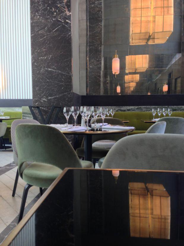 Saarinen Chairs Joseph Dirand Designed Monsieur Bleu At Palais De Tokyo