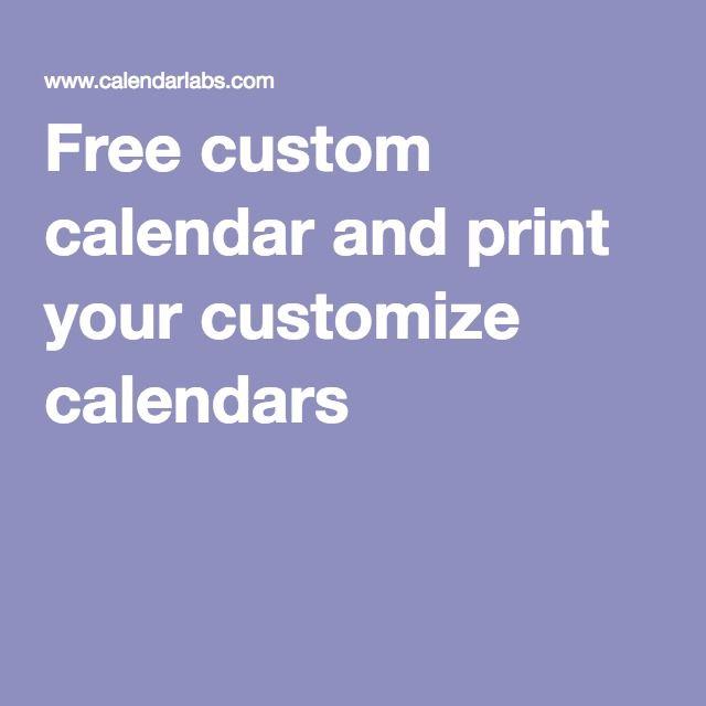 GREAT site!! Plan the calendar the way YOU WANT! Free custom - school calendar creator