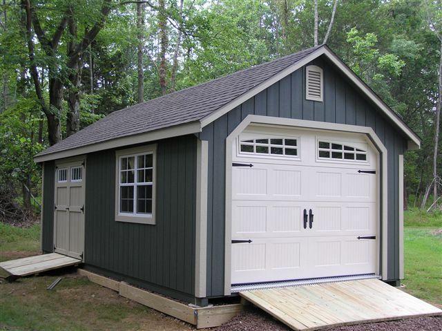 12x24 Custom Garden Shed Garage With Heritage Garage Door Transom