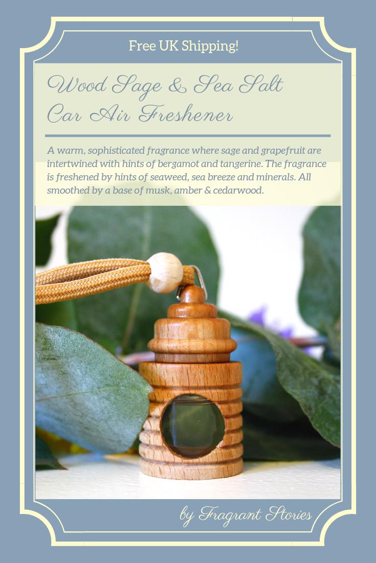 Wood Sage & Sea Salt, Car Air Freshener, Car accessory