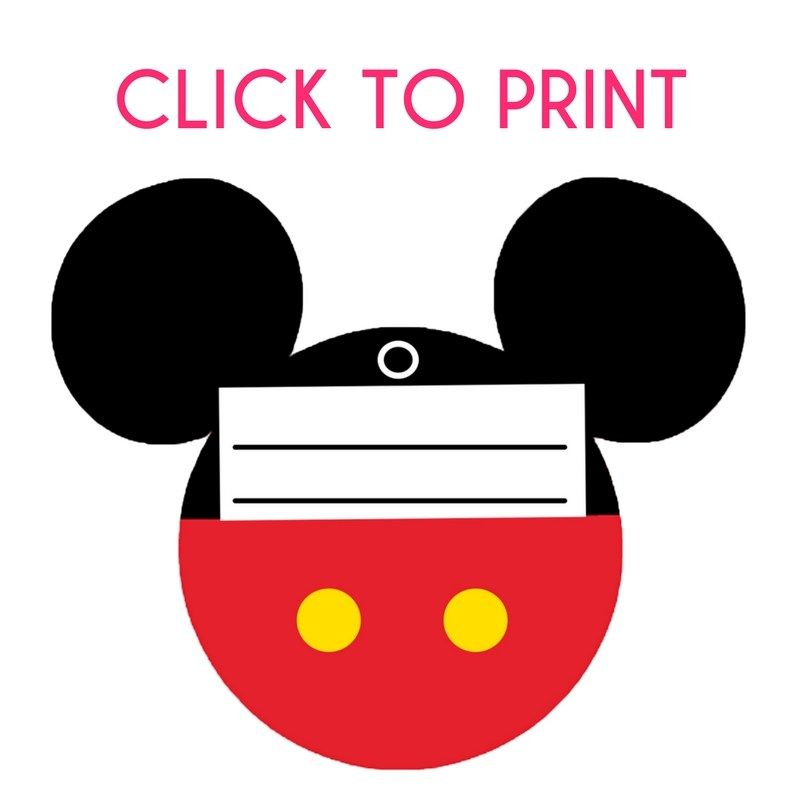 fd238425bd4d Free Printable Mickey Mouse Luggage Tags | Best of Walt Disney World ...