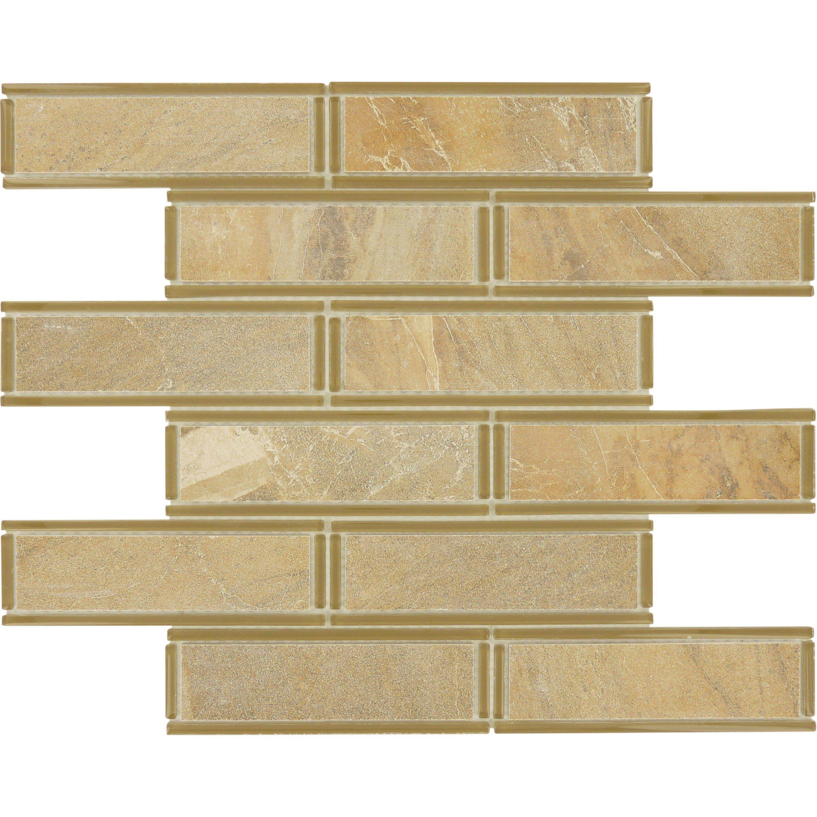 """Sheet Size: 11 3/4"""" X 11 3/4"""" Tile Size: 1 1/2"""" X 6"""" Tile"""