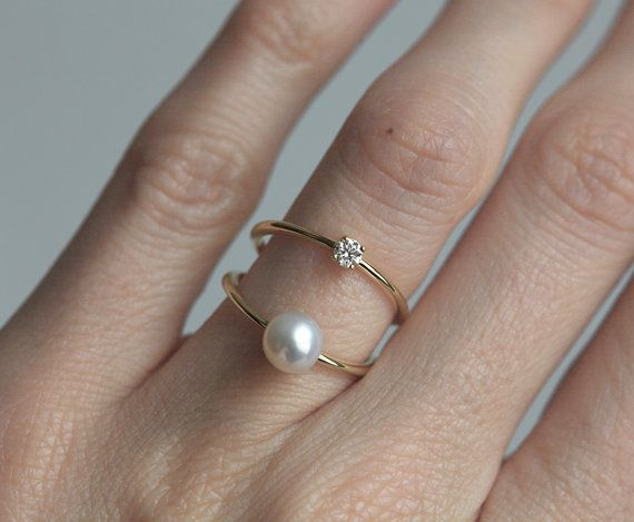 gold pearl rose rings jewellers phil peel ring diamond