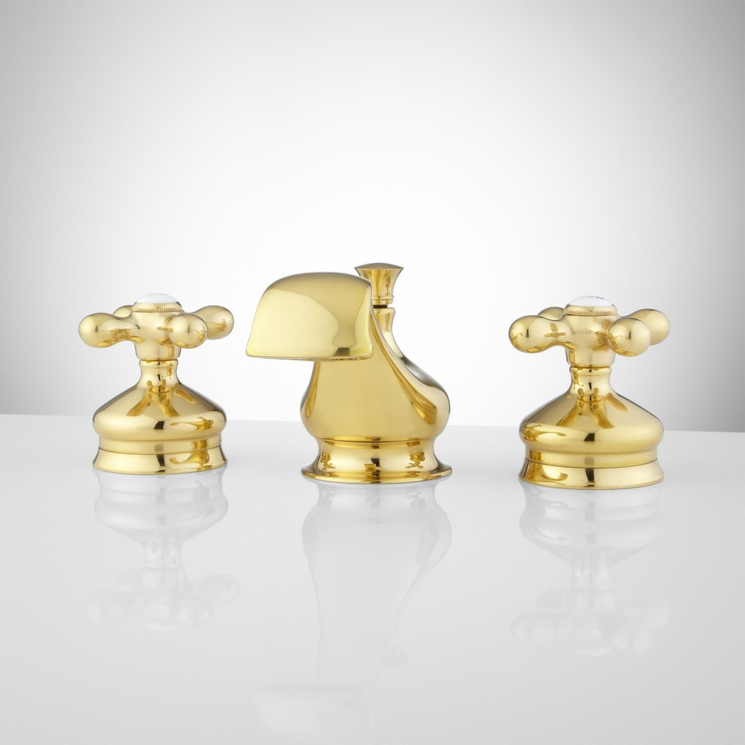 Polished brass widespread bathroom faucet - Polished Brass Shannon Widespread Bathroom Faucet