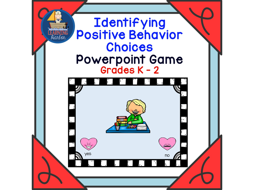 Identifying Positive Behavior Choices PowerPoint Game