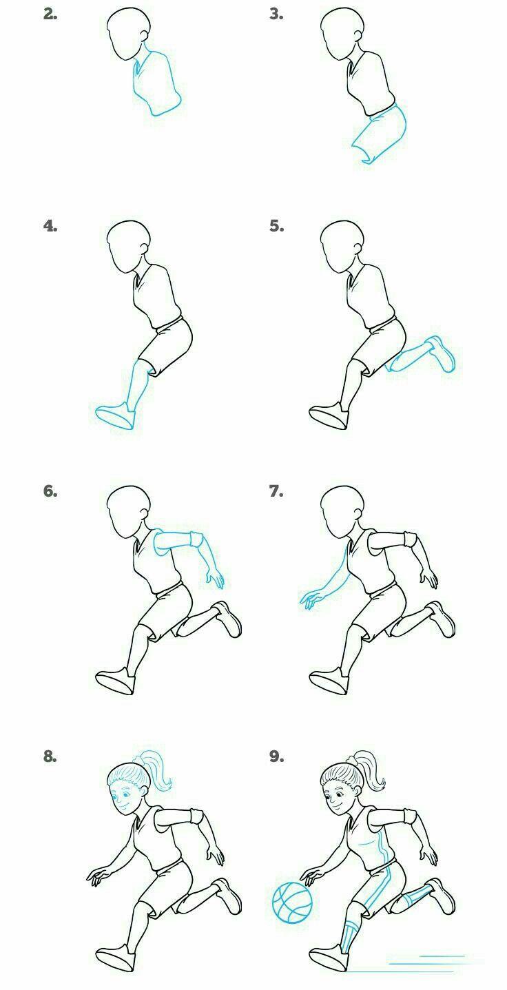Человек в движении. | Уроки рисования, Рисунок