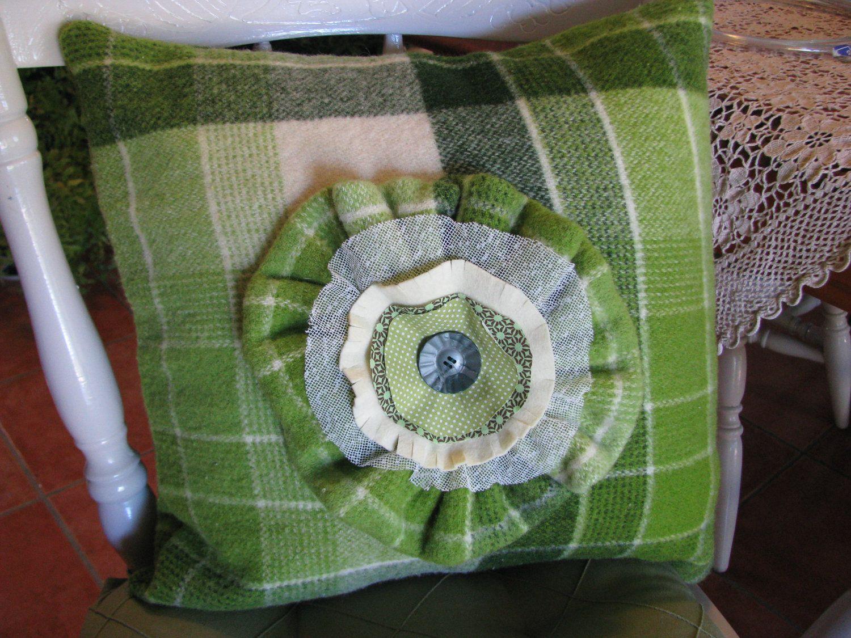cushion cover vintage upcycled onkaparinga woolen vintage