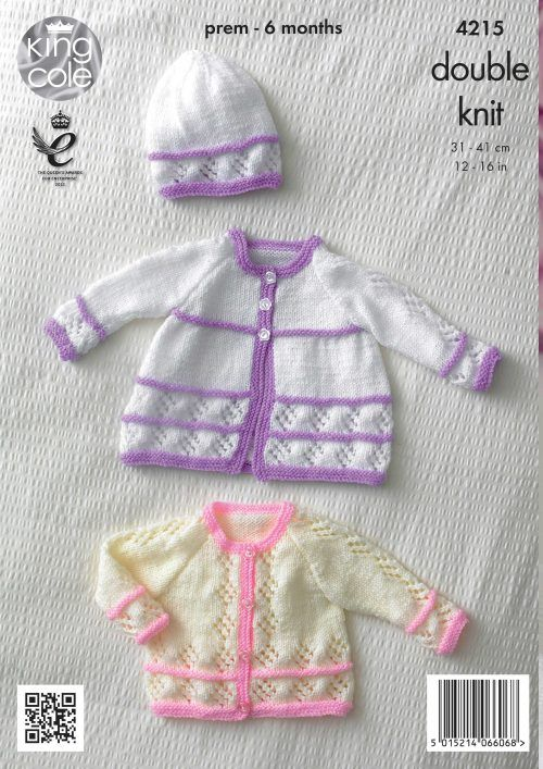 Matinee Coats, Cardigan, Beret and Hat - King Cole | narmada ...