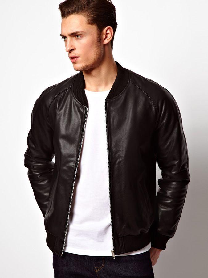 Bildresultat för leather bomber jacket | Läderjackor | Pinterest