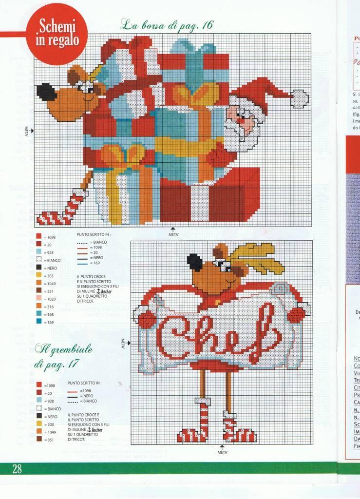 un renne rigolo | Navidad | Pinterest | Punto de cruz, Bordado ...