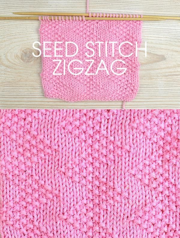 Free Instructions For Knitting The Zigzag Seed Stitch 10 Row Repeat