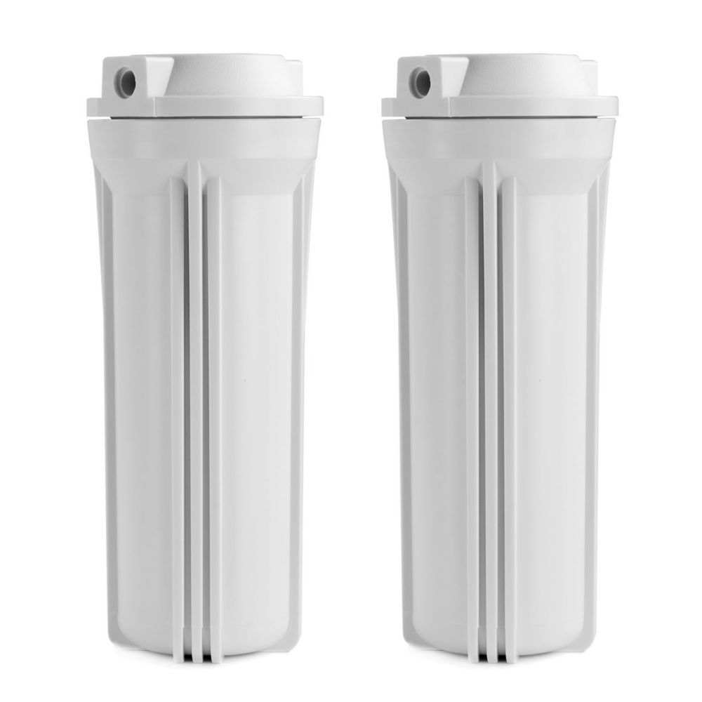 Hw12 1 4 Inch Inch Slimline Water Filter Housing White 10 Inches 2 Pack Water Filter Filters Home Depot
