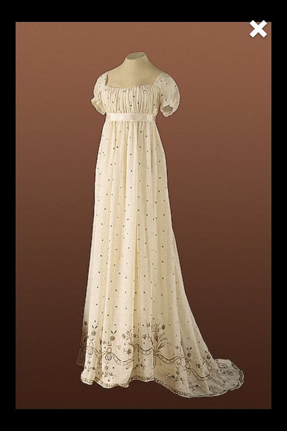 CUSTOM RESERVED Evening Formal Regency Jane Austen by MattiOnline