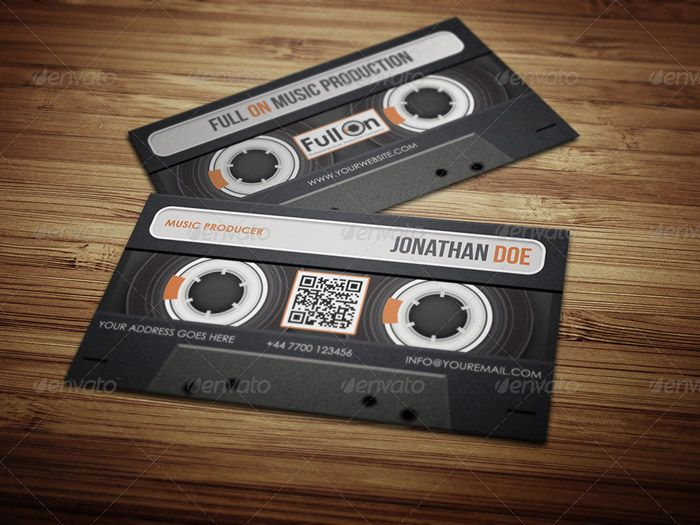 Audio Cette Business Card For Music Industry