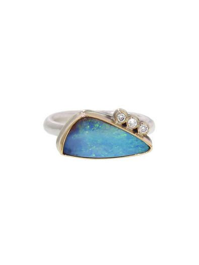 Asymmetrical Jelly Opal Ring
