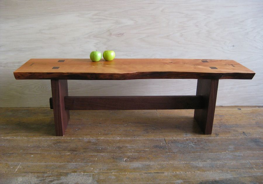 Rustic Black Cherry Bench |