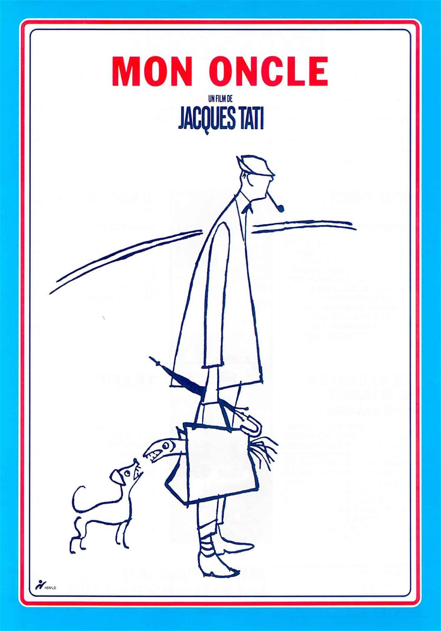 Mon oncle by Jacques Tati vintage movie poster print