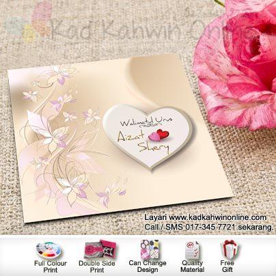 Simple Tapi Cantik Salah Sau Keistimewaan Kad Kahwin Kami Free Prints Kad Kahwin Print Design