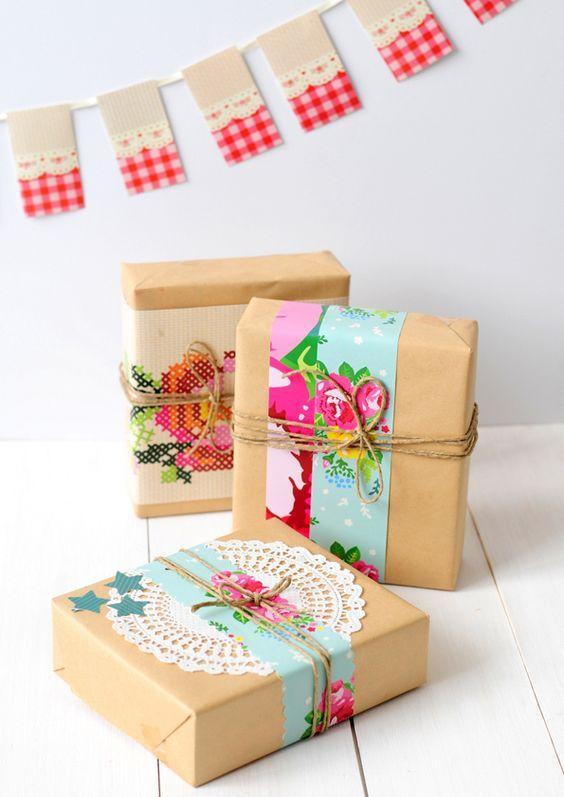 Ideas para envolver regalos con papel madera funny - Envolver regalos de forma original ...