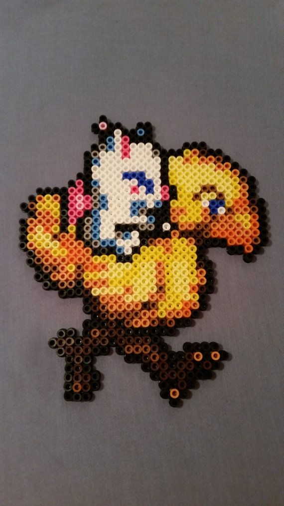 Moogle & Chocobo Perler Bead Figure by AshMoonDesigns