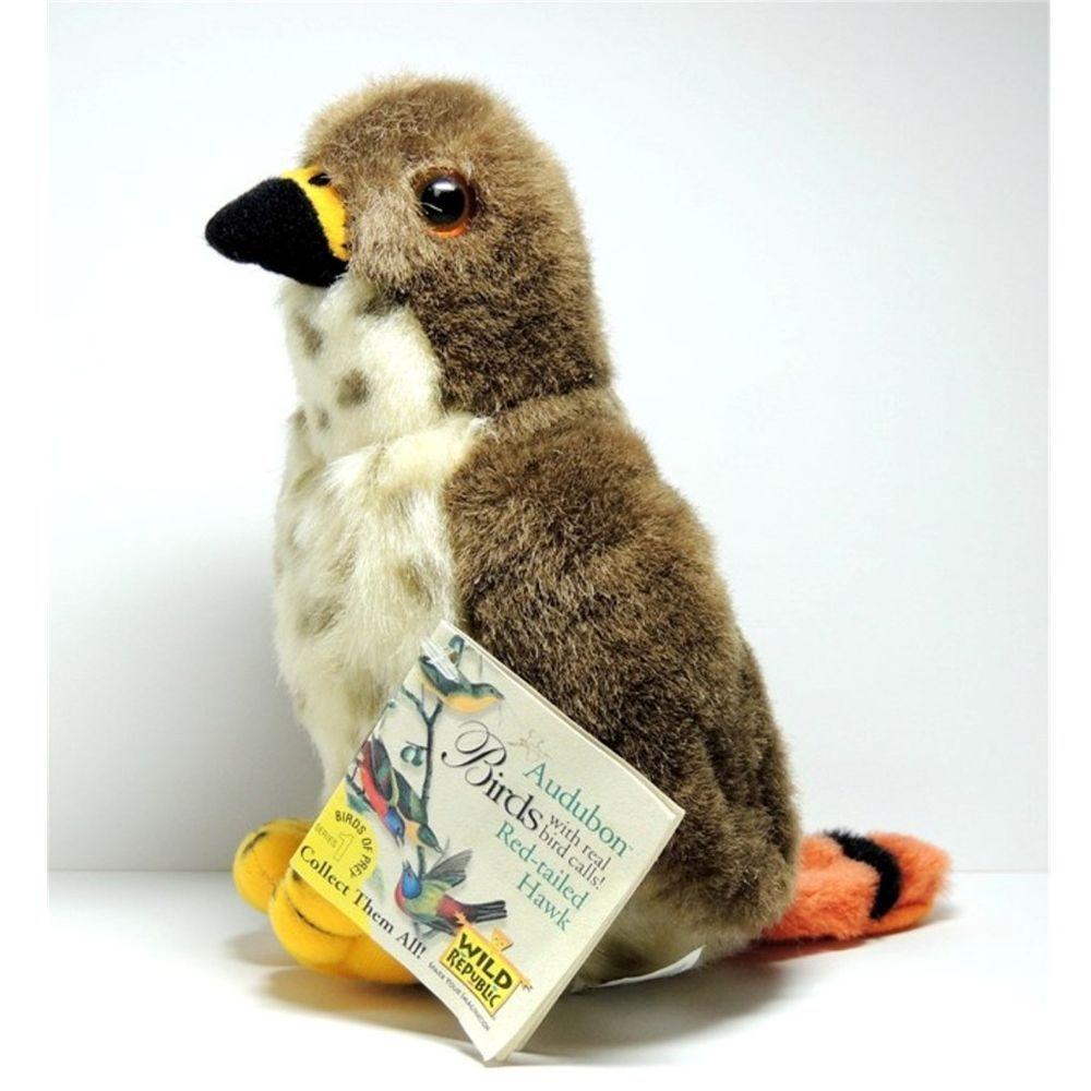 Audubon Red Tailed Hawk Bird Plush Stuffed Animal From Wild Republic