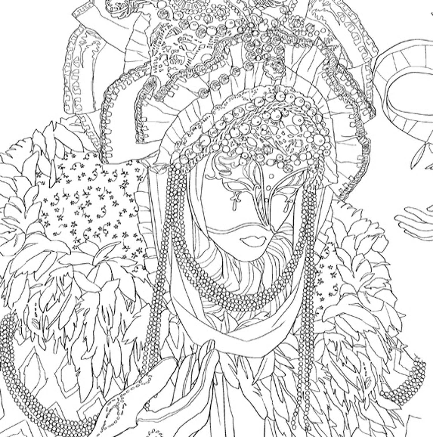Coloriage coloriage masque pinterest coloriage - Coloriage therapie ...
