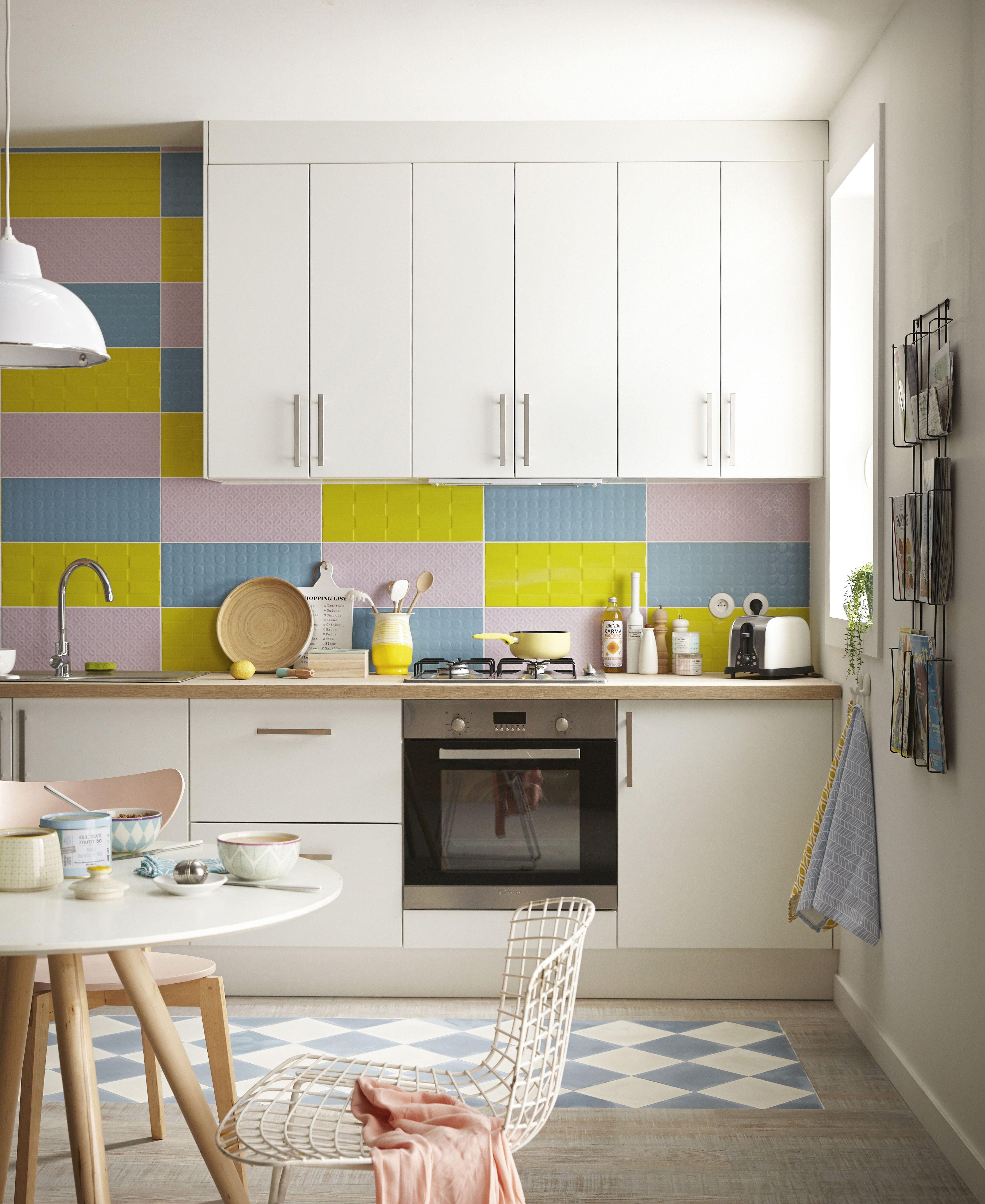Cuisine Blanche Mur Coloré cuisine moderne ouverte avec meubles de cuisine blancs et