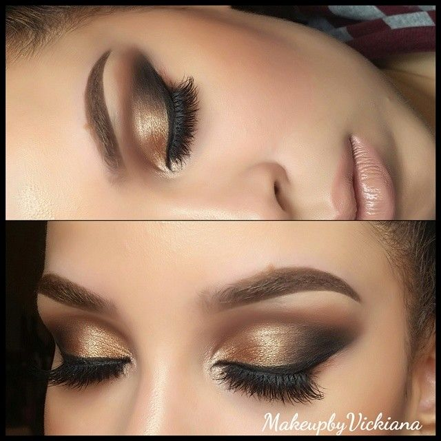Vickiana de la Cruz (makeupbyvickiana) used: Mac's brule on browbone, soft brown and texture in the crease, woodwinked on lid, swiss chocolate and carbon in outer v and nylon on inner corner