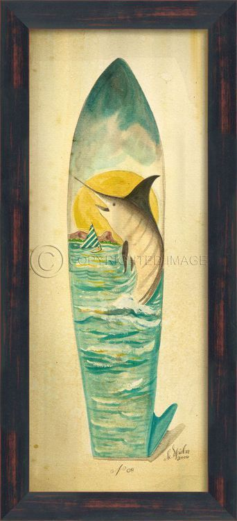 Large Marlin Surfboard Art | Surfboard art, Surfboards and Surf board