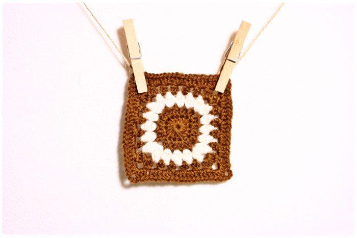 Free Pattern: Sunflower Granny Square Remix | crochet2 | Pinterest