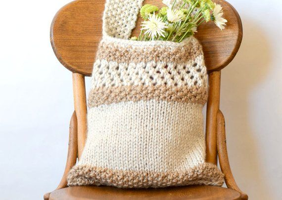Knitting Pattern Market Bag, Easy Knit Tote, Farmers ...