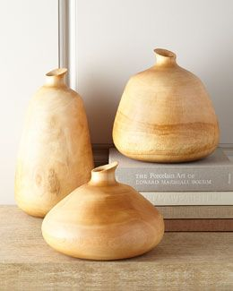H7FPB Jamie Young Organic Wood Vases