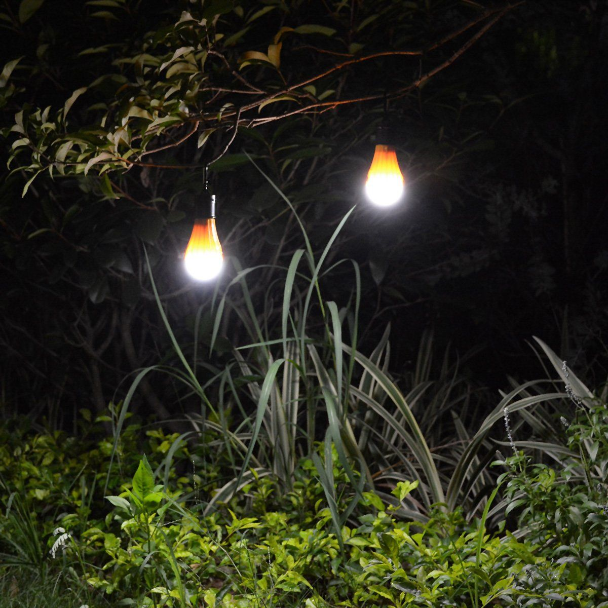 Windpnn Portable Solar Powered Light Bulb Usb Rechargeable Led