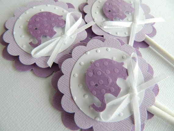 Charming Purple Elephant Cupcake Topper Lavender Elephant Shower Purple Baby Shower  Baby Cupcake Toppers Purple Baby Shower Decorations U2022 Set Of 12